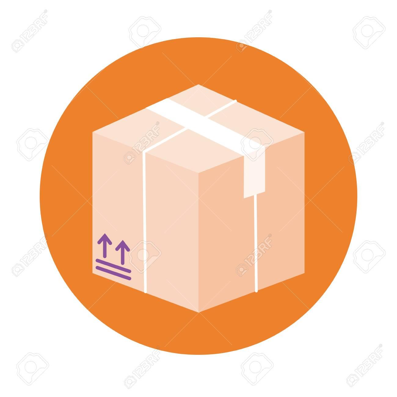 box delivery service block style vector illustration design - 155529778