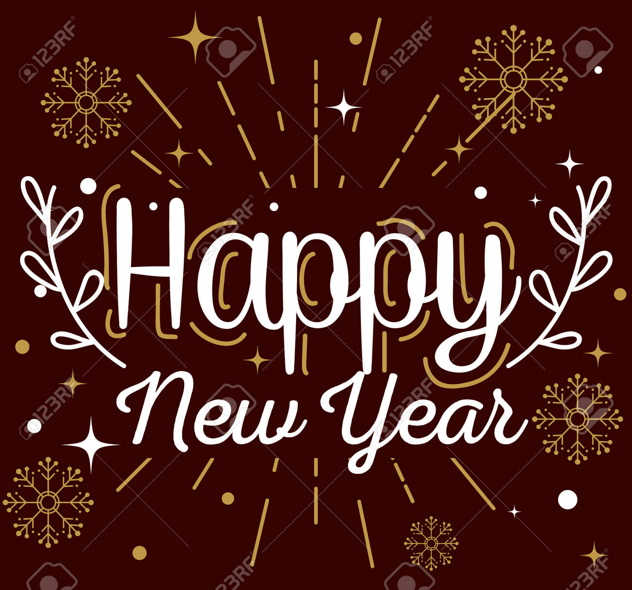 Happy new year with snowflakes design, Welcome celebrate and greeting theme Vector illustration - 156708124