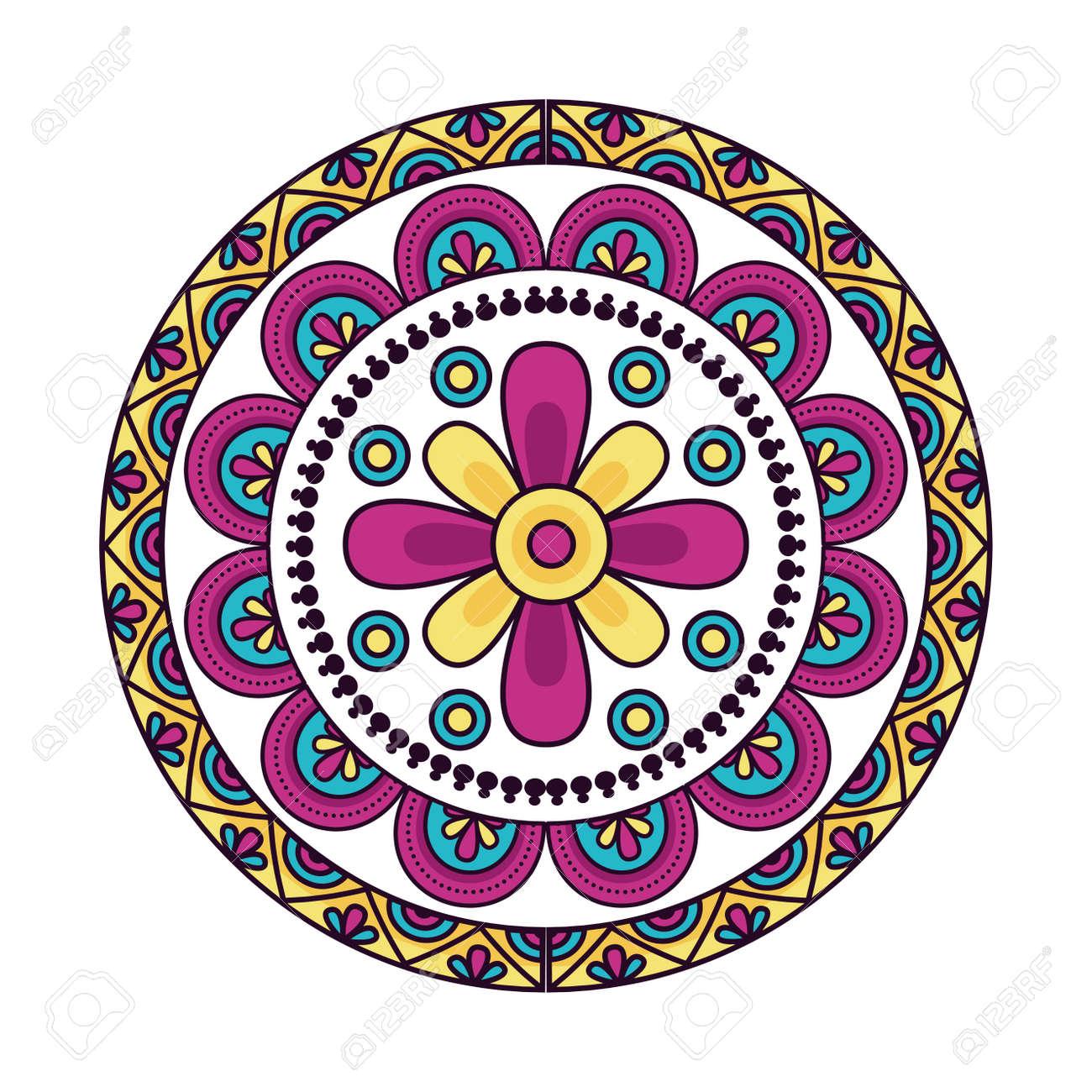Mandale design, Bohemic ornament meditation indian decoration ethnic arabic and mystical theme Vector illustration - 157670762