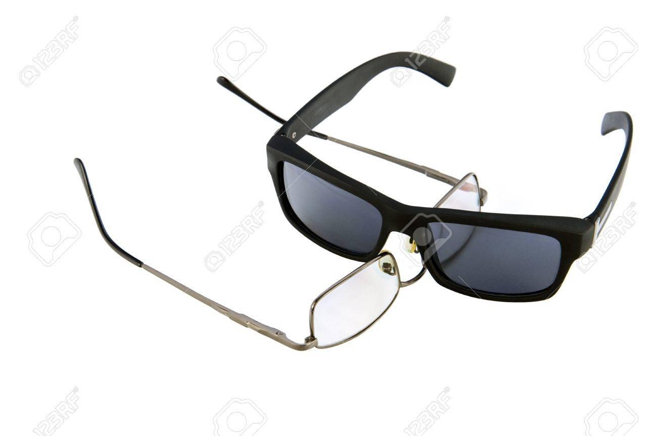 Eine Reihe Von Gläsern Für Optische Und Augen-Sonnenbrille, Dunkel ...