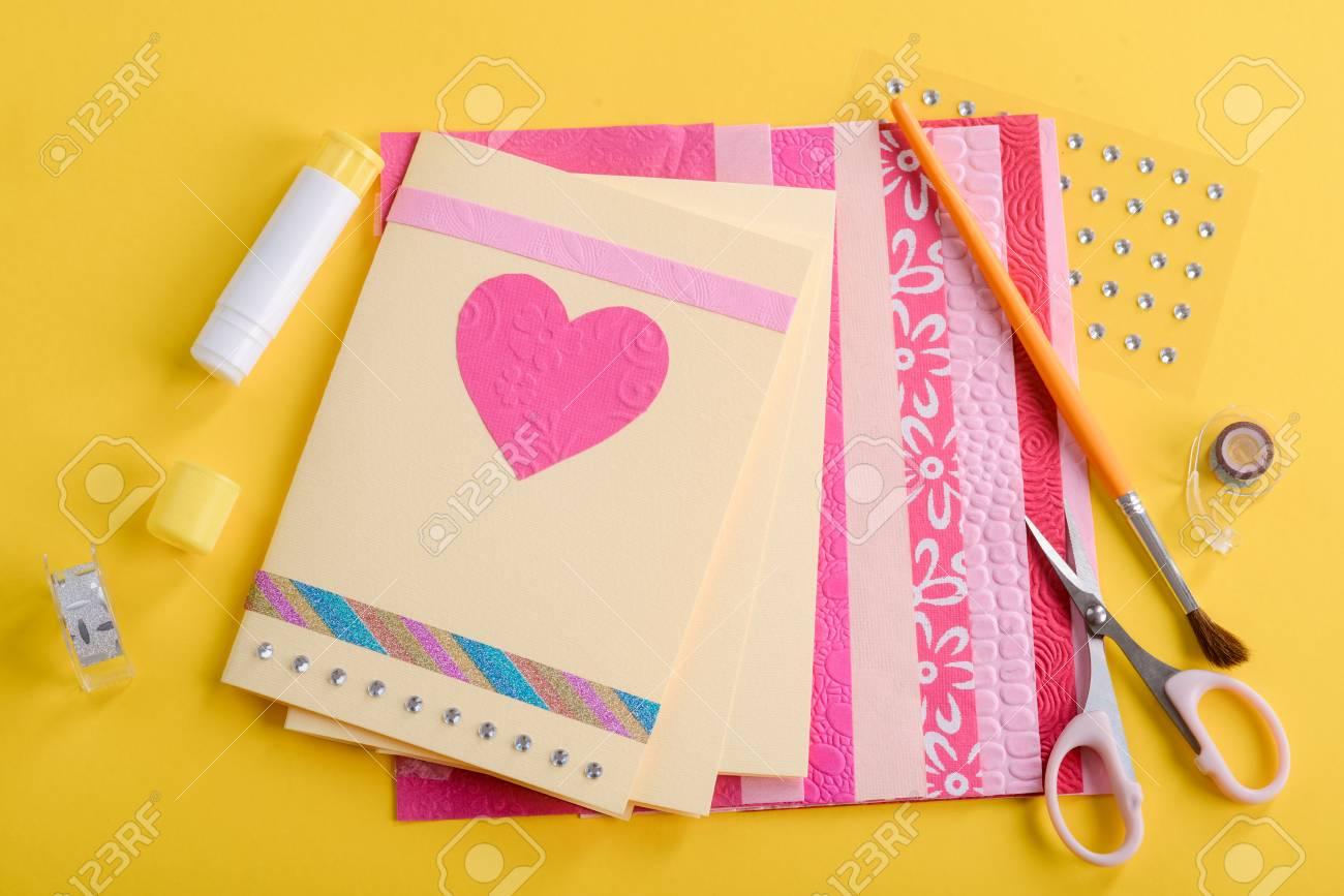 Beautiful handmade Valentines day cards - 110837029