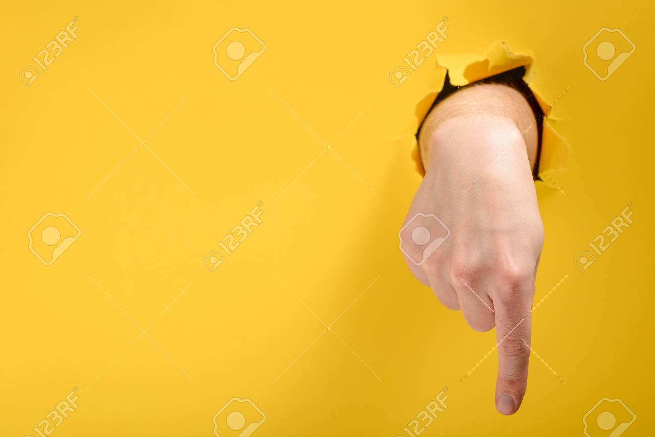 Finger pointing down - 118736183