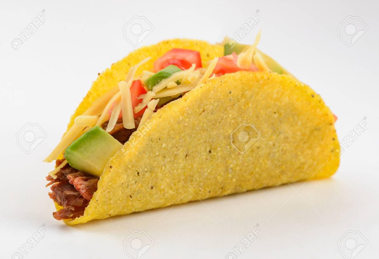 Taco on white background - 120083969