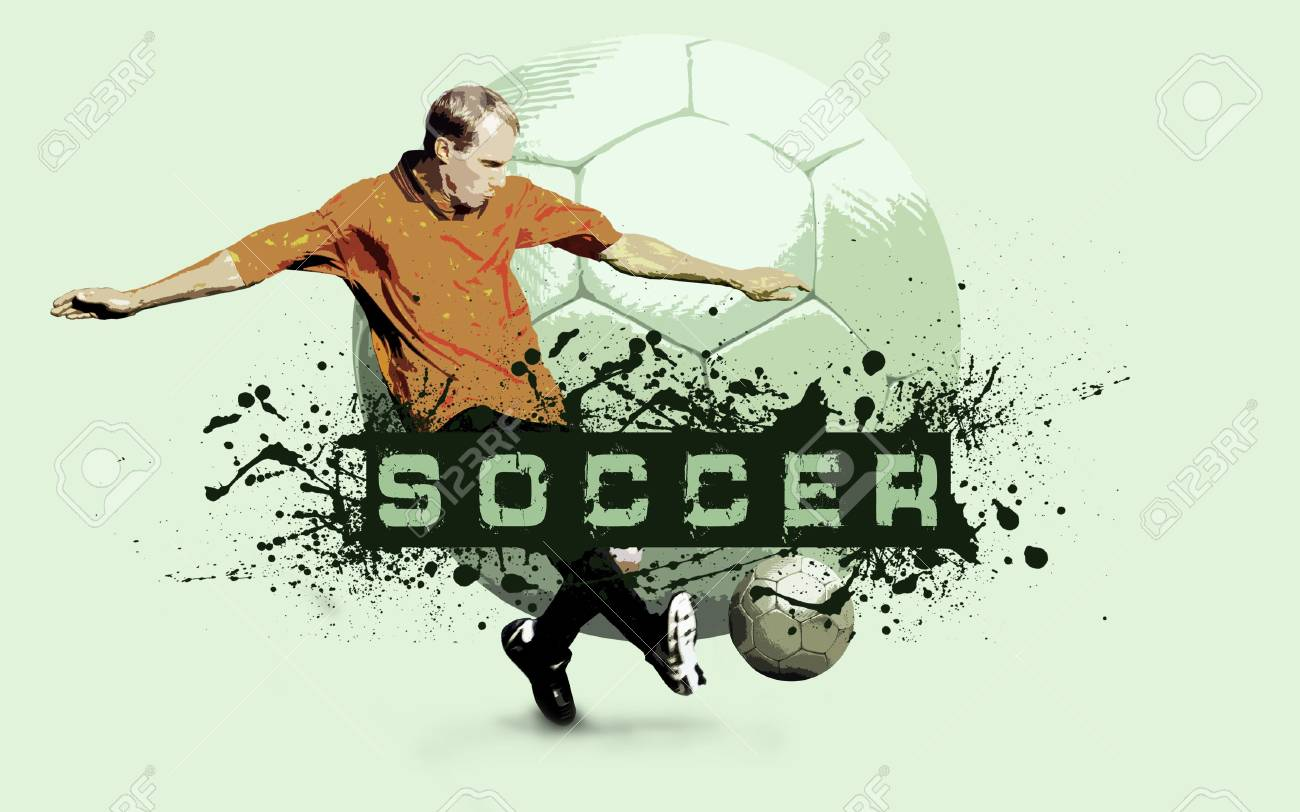 Grunge Soccer Ball background Stock Photo - 7928163