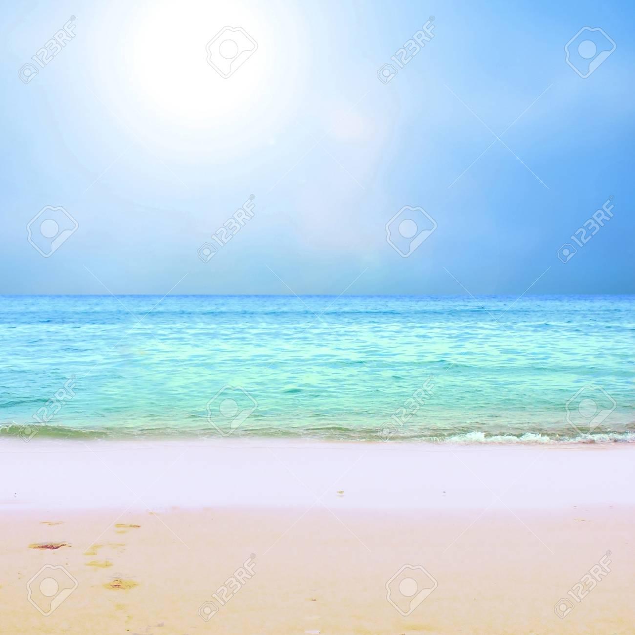 Young beautiful women on the sunny tropical beach in bikini Stock Photo - 8487716