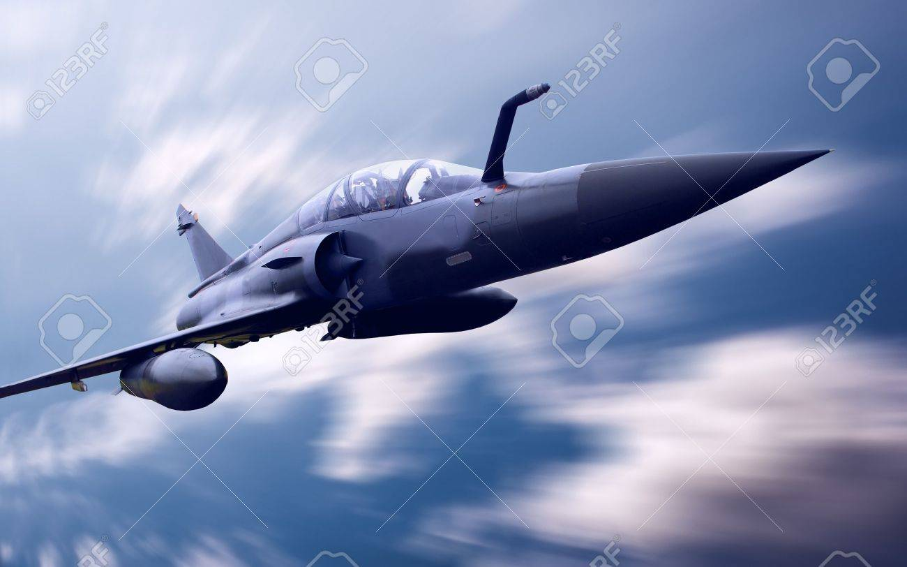 Military airplan on the speed Stock Photo - 8655521
