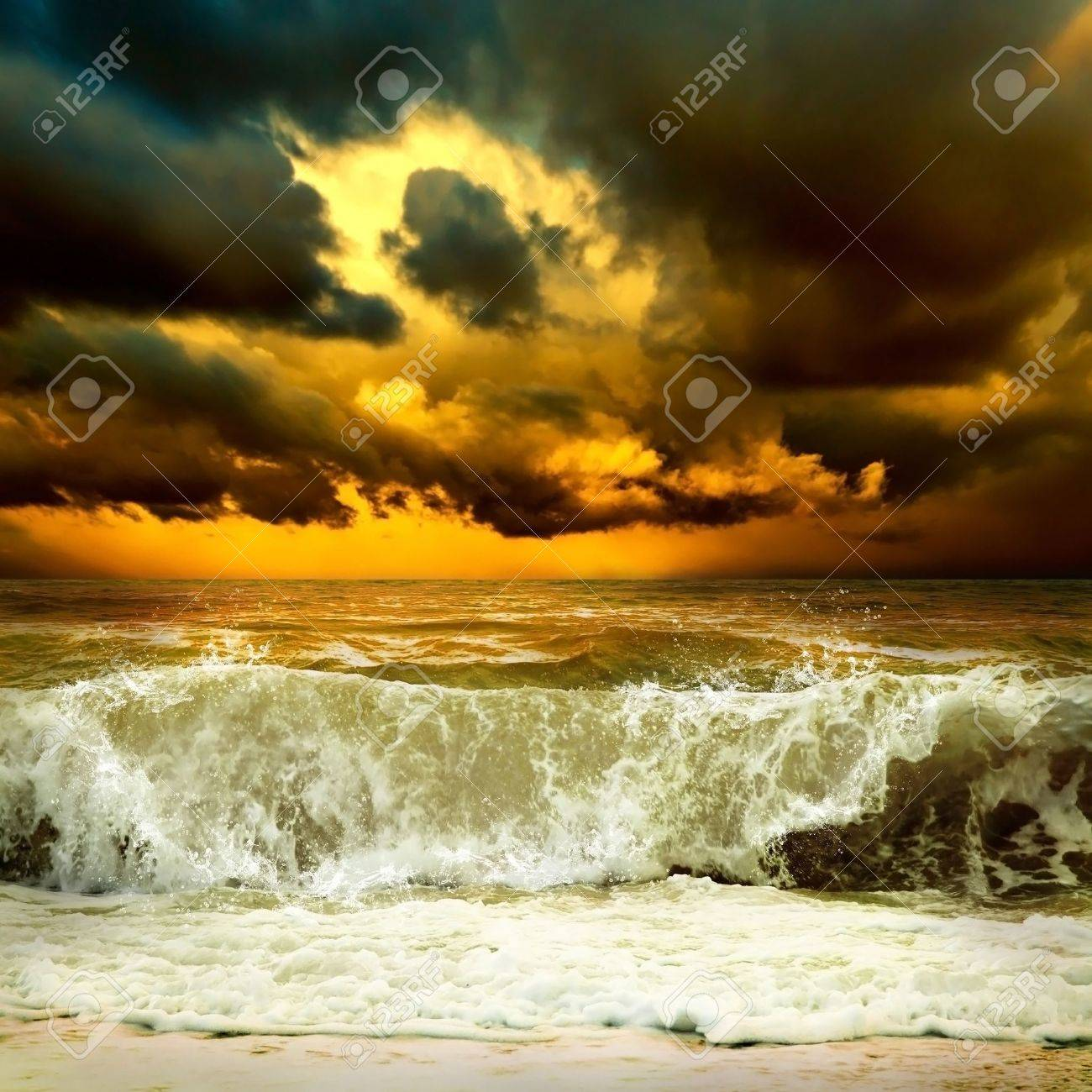 View of storm seascape Stock Photo - 10133146