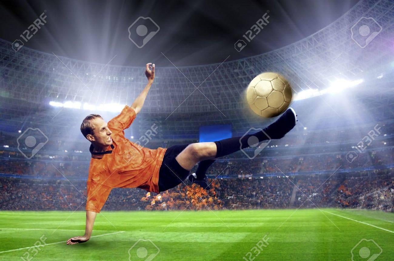 Football player on field of stadium Stock Photo - 11065682