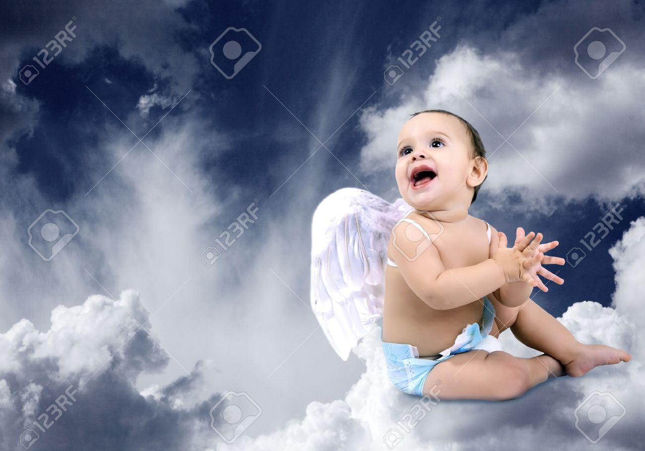 Baby Angels Images Heaven Beautiful Baby Angel Sitting