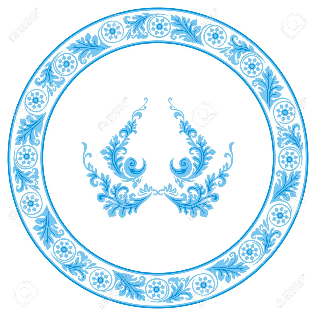 Circular pattern in traditional russian style. Stock Vector - 8578019