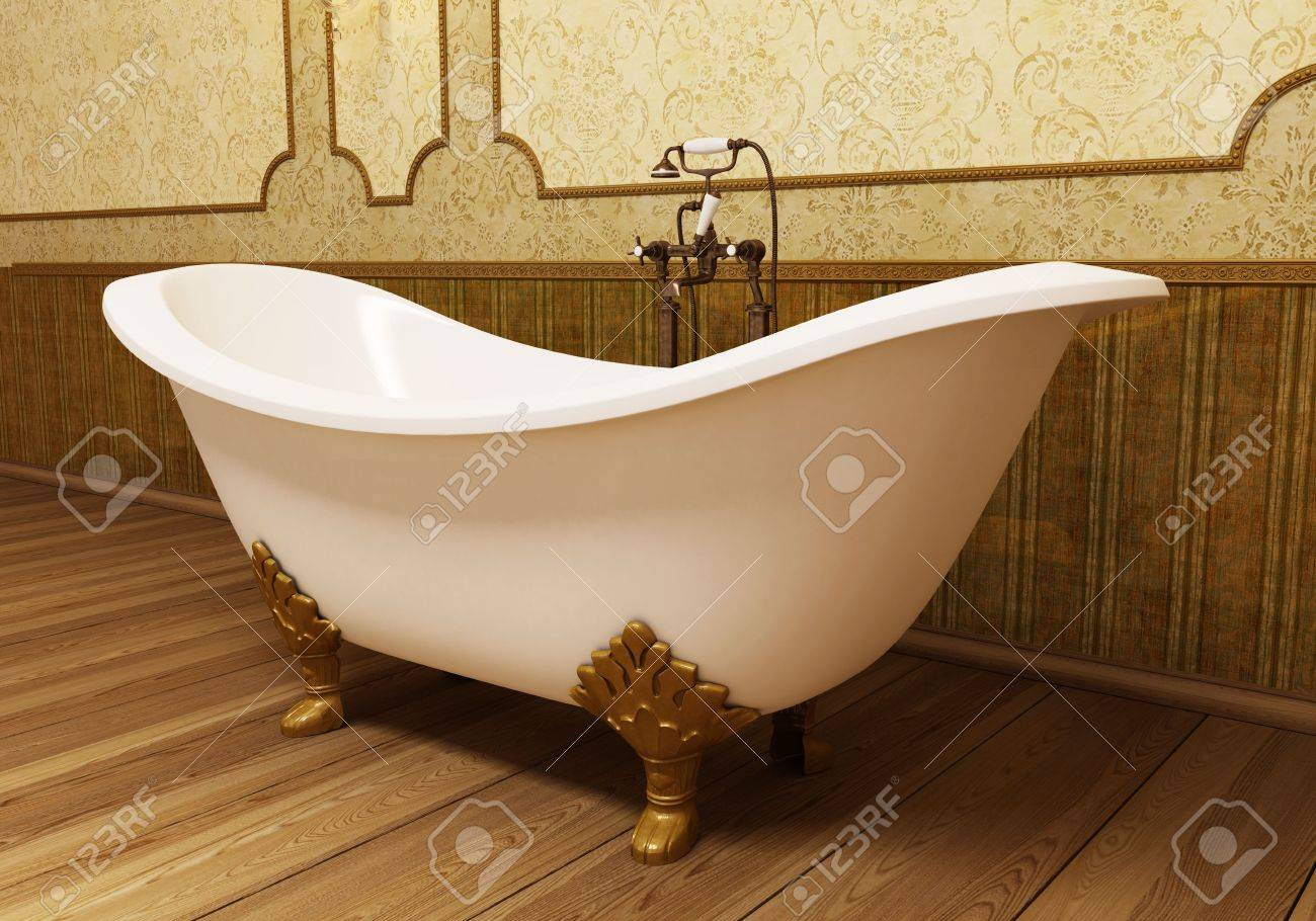 Beautiful retro bathroom in eclectic style Stock Photo - 6597531
