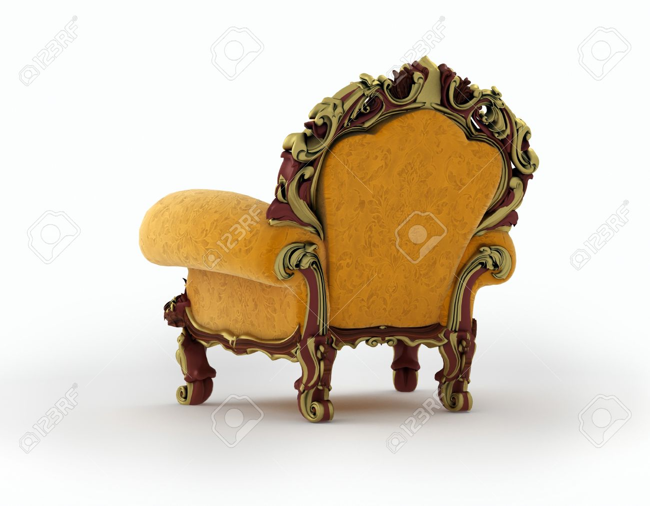 Isolated view of an antique chair 3D render Stock Photo - 8434946