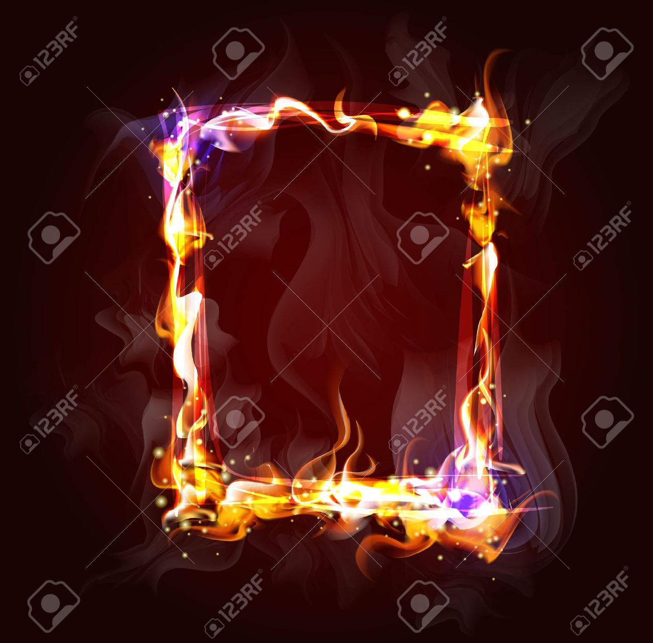 fire frame background for design Stock Vector - 12541065