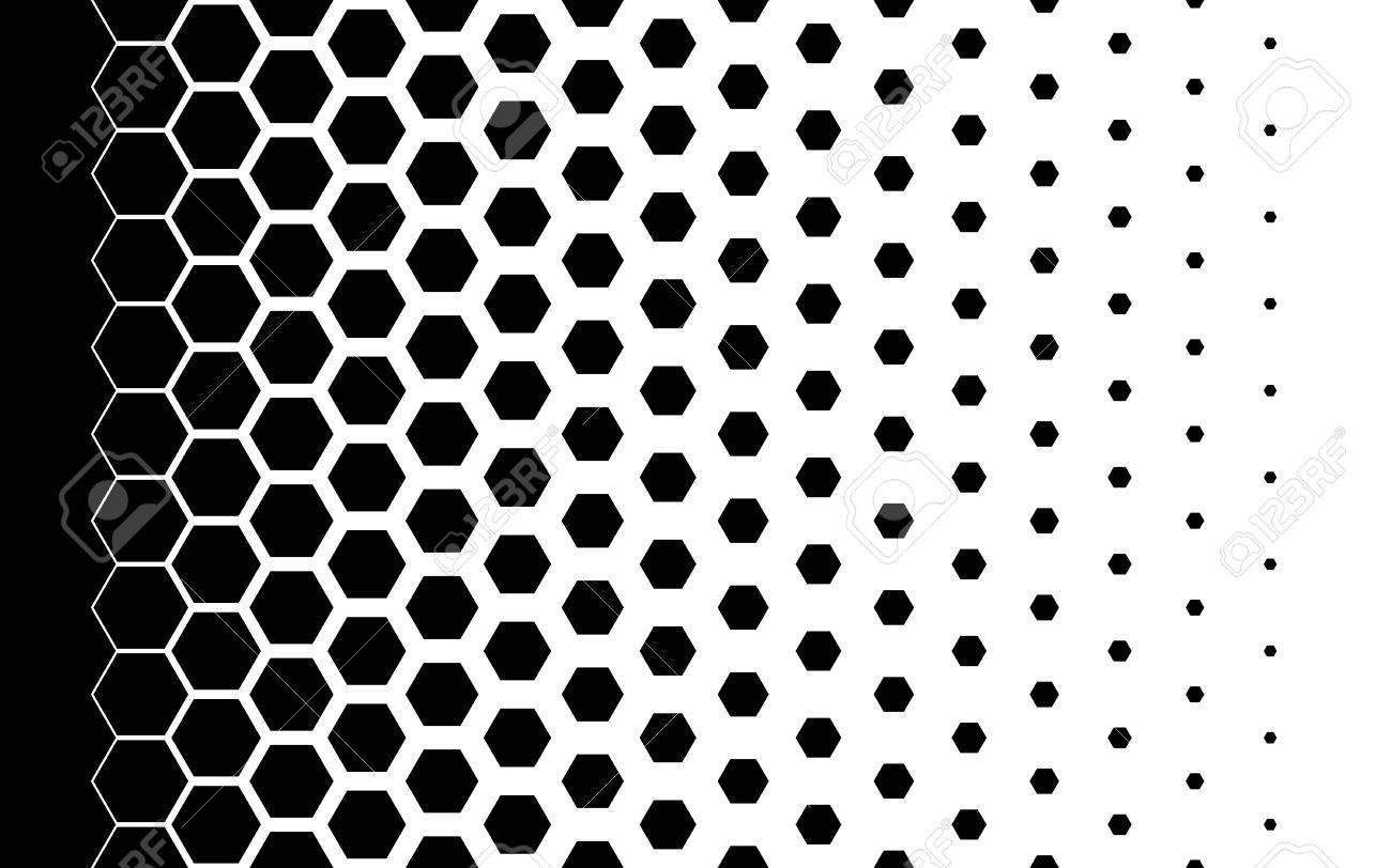 Gradient background with hexagons Halftone design Light effect