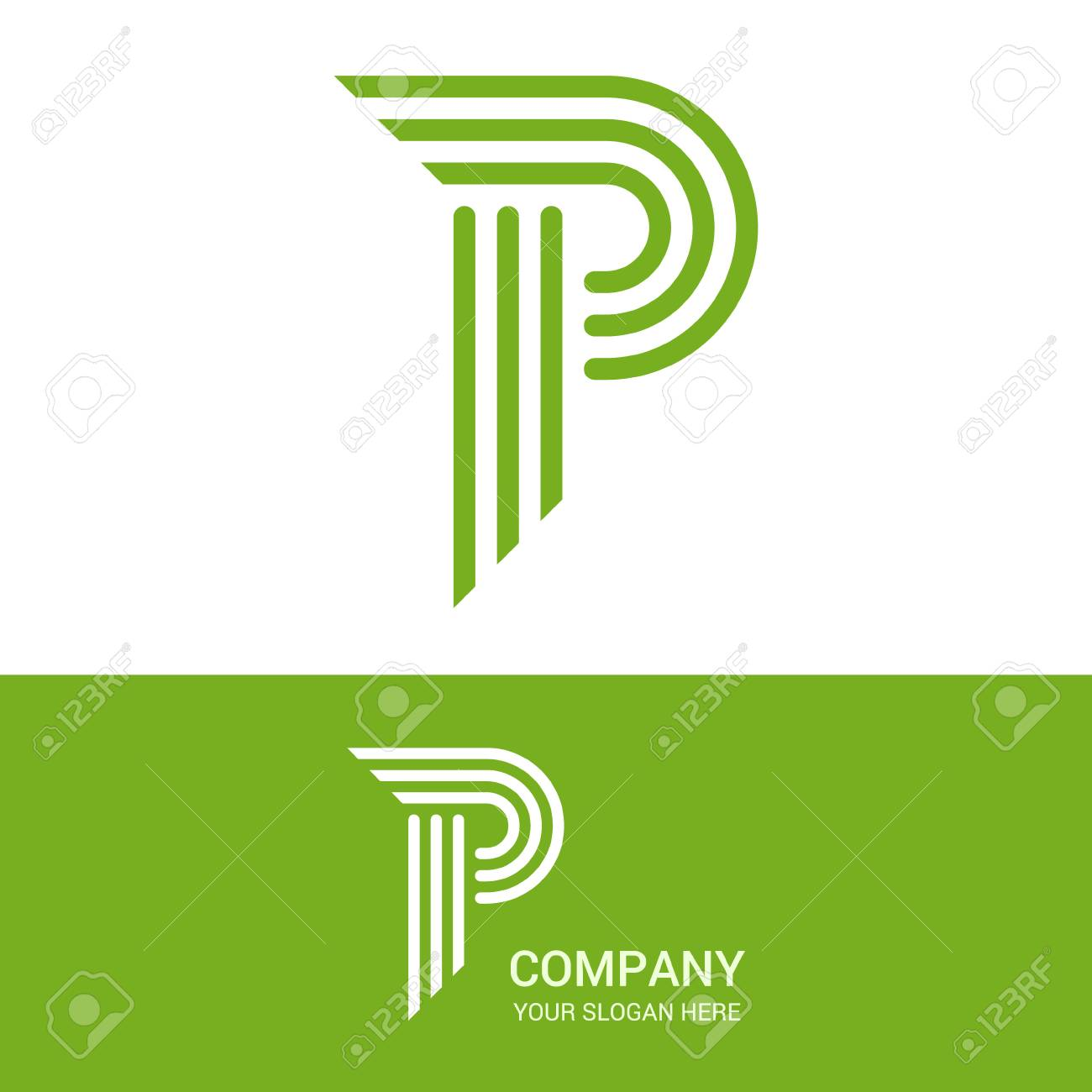Creative P letter stripes vector logo design. P Vector sign. Logotype  symbols. Logo 79b09c68068b
