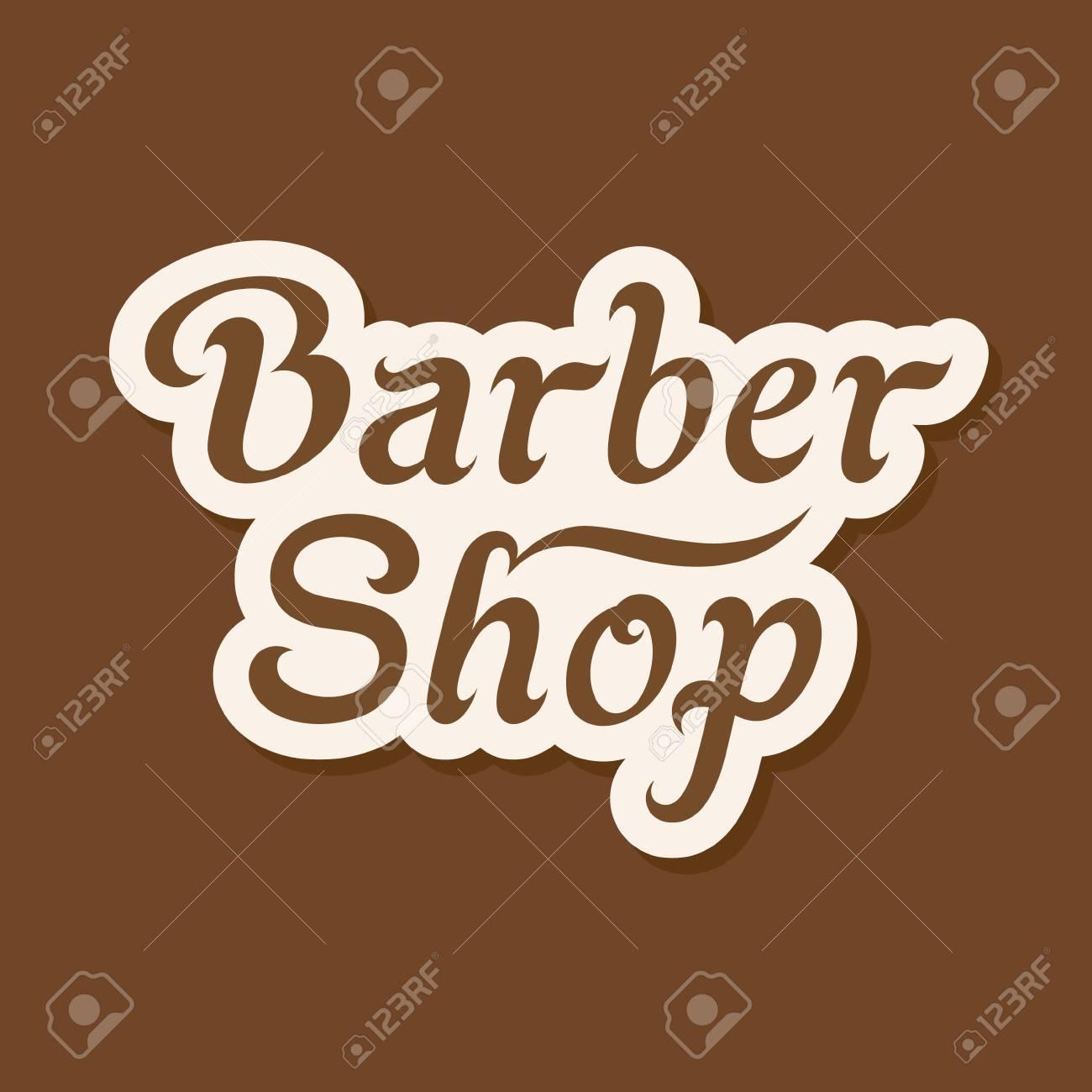 d758e34bd0469a Banque d images - Barber Shop enseigne. Conception d étiquettes de lettrage  de vecteur