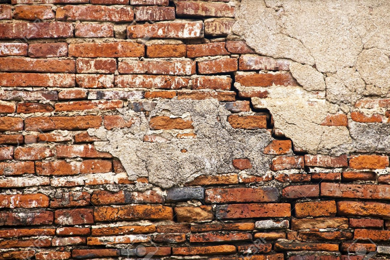 Cracked brick wall drawing brick wall - Broken Wall Cracked Brick Wall