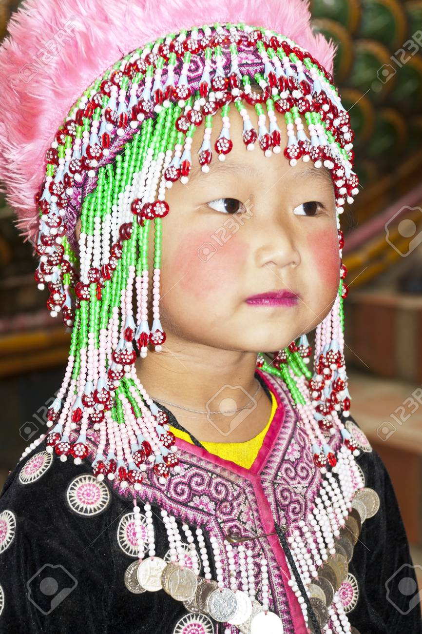 Baby girl Mountaineer of Thailand Stock Photo - 11215635