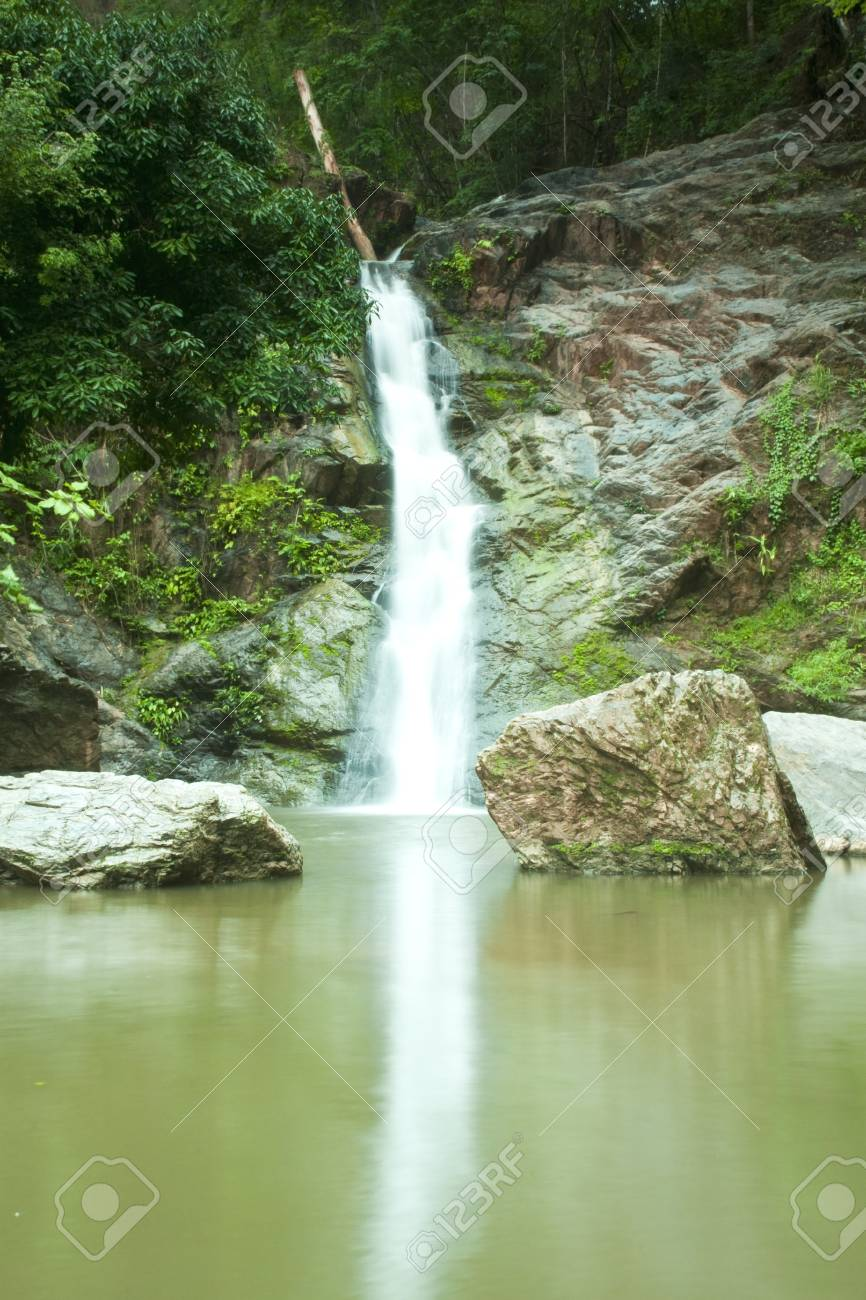 Waterfall in forest   Waterfall is a place that will make you relax and fresh   in Nan Province of Thailand Stock Photo - 13927399