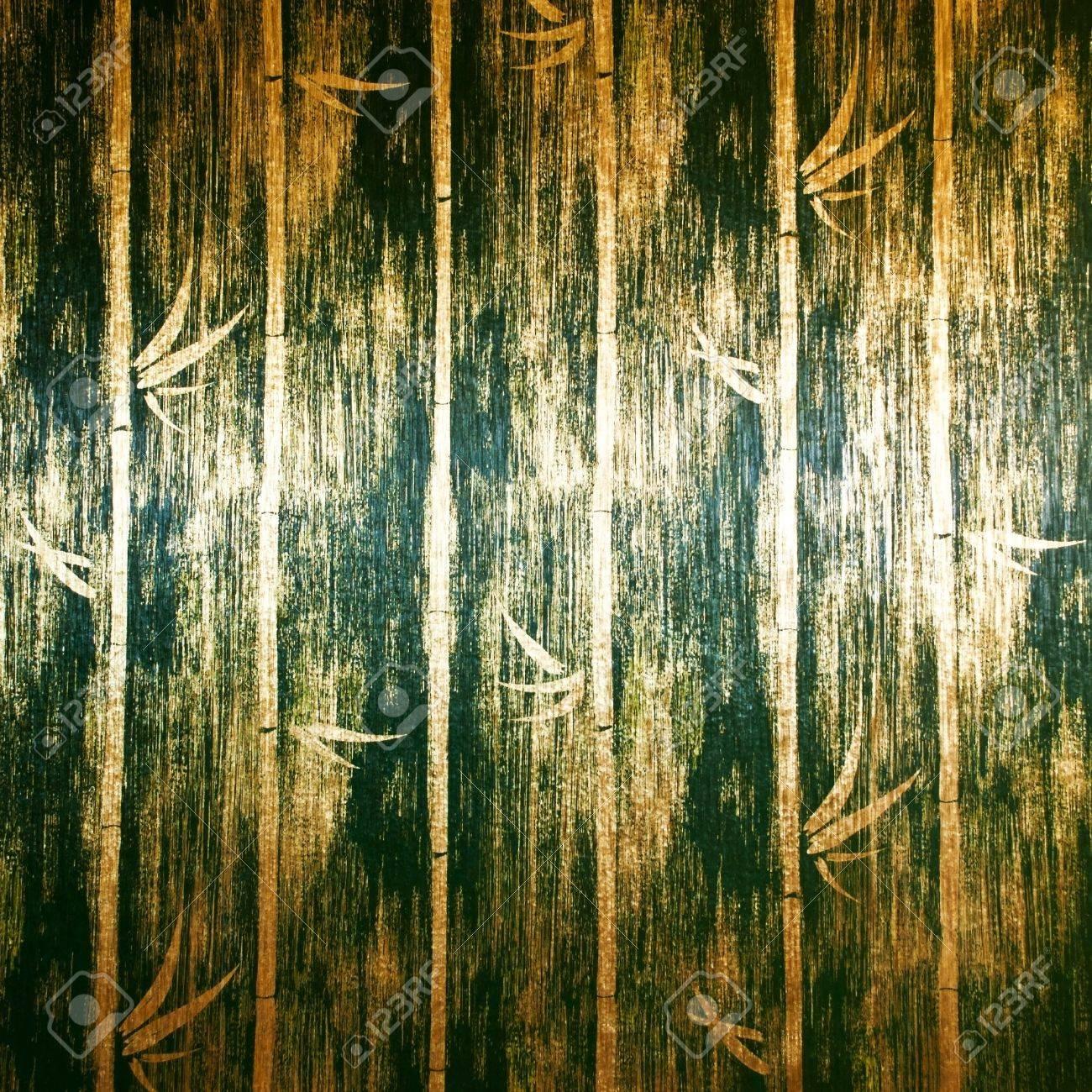 Grune Bambus Wand Textur In Bed Zimmer Thai Lana Stil Lizenzfreie