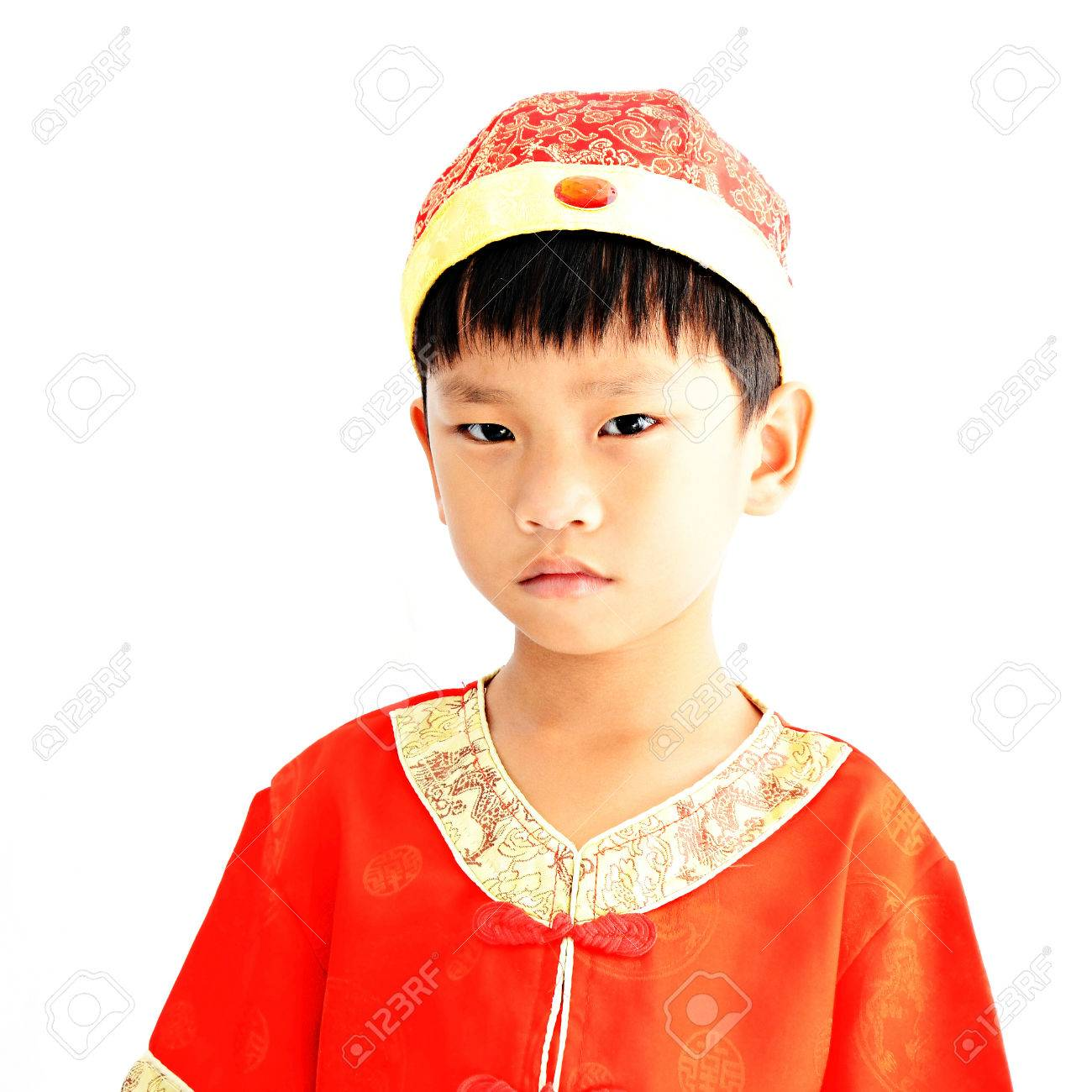 China boy in traditional chinese red tang suit greeting stock photo china boy in traditional chinese red tang suit greeting stock photo 29211140 m4hsunfo