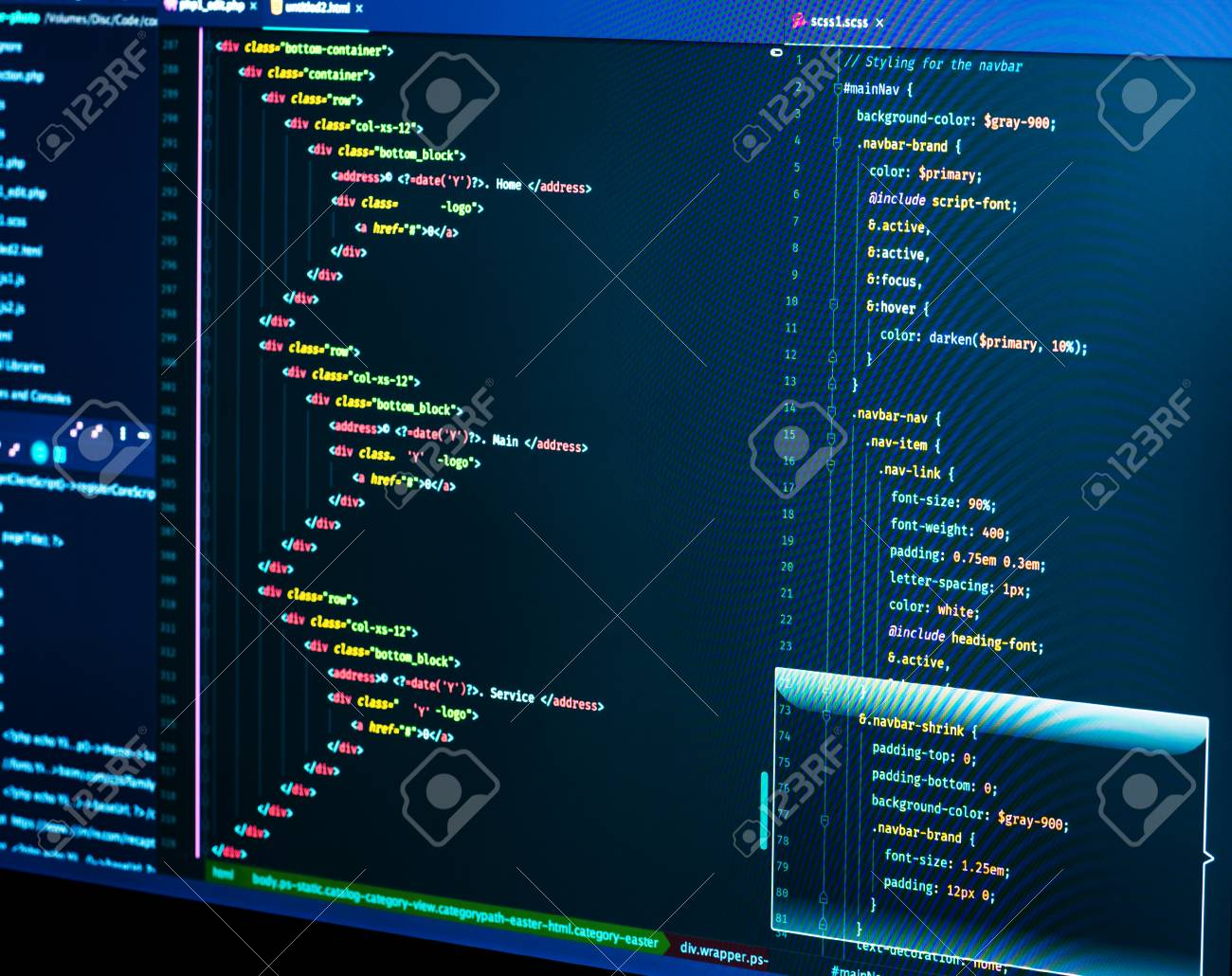 Coding html and css in IDE, macro  Software development  Software