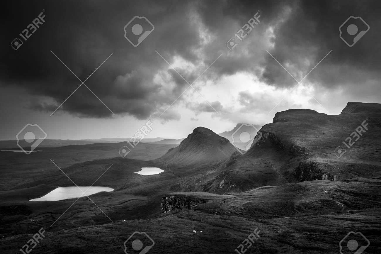 Scotland landscape black and white