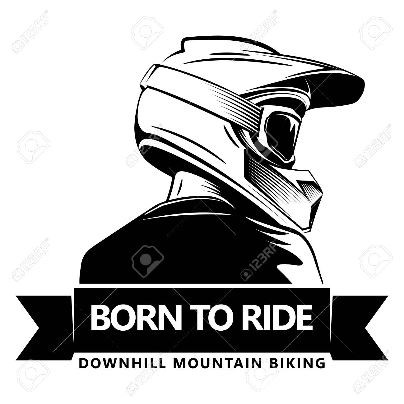 Back Shot Of Man With Full Face Motocross Helmet Extreme Sport Royalty Free Cliparts Vectors And Stock Illustration Image 128059311
