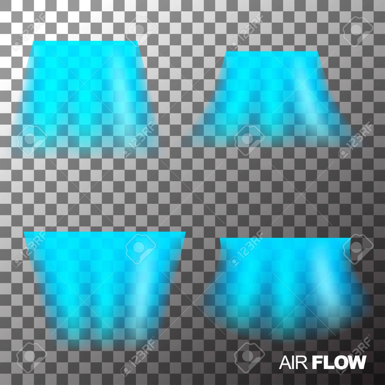 Air Flow Of Clean Or Cold Air From Conditioner. Isolated On Transparent..  Royalty Free Cliparts, Vectors, And Stock Illustration. Image 138145796.