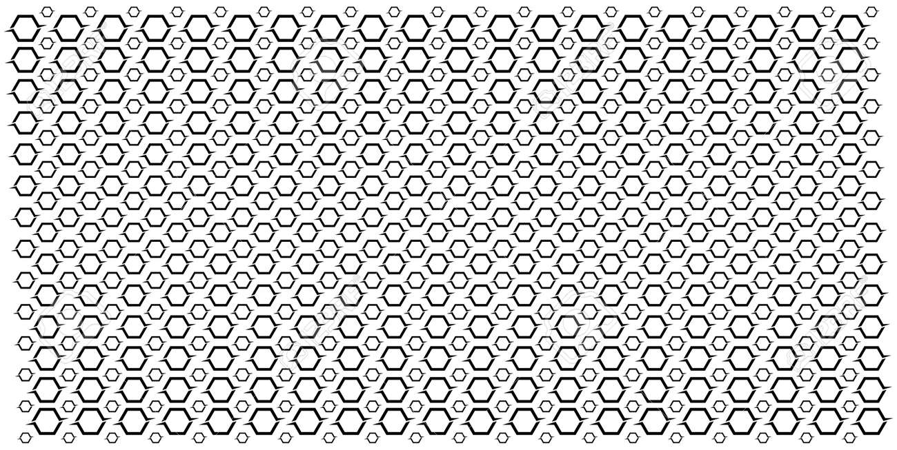 Large and small repetitive hexagons. Abstract Geometric Pattern - 156222696