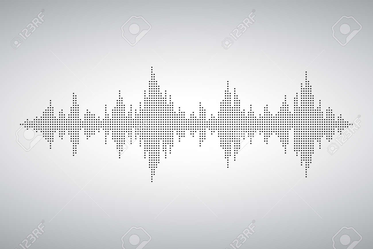 Audio wave from smal dost. Voice sound music shape. Waves of the equalizer. EQ Vector Illustration. - 158201834