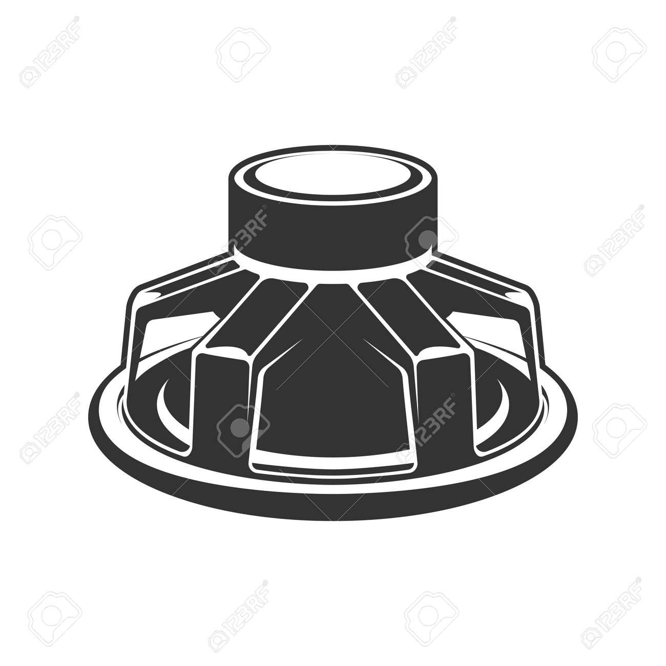 Audio speaker icon. Subwoofer speaker for car. - 168596726