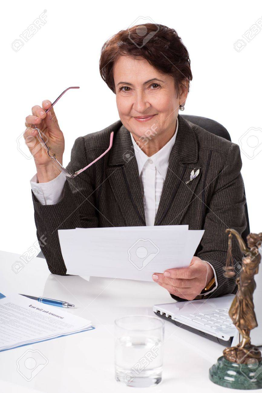 Lawyer or notary public on his workplace with documents Stock Photo - 21199098