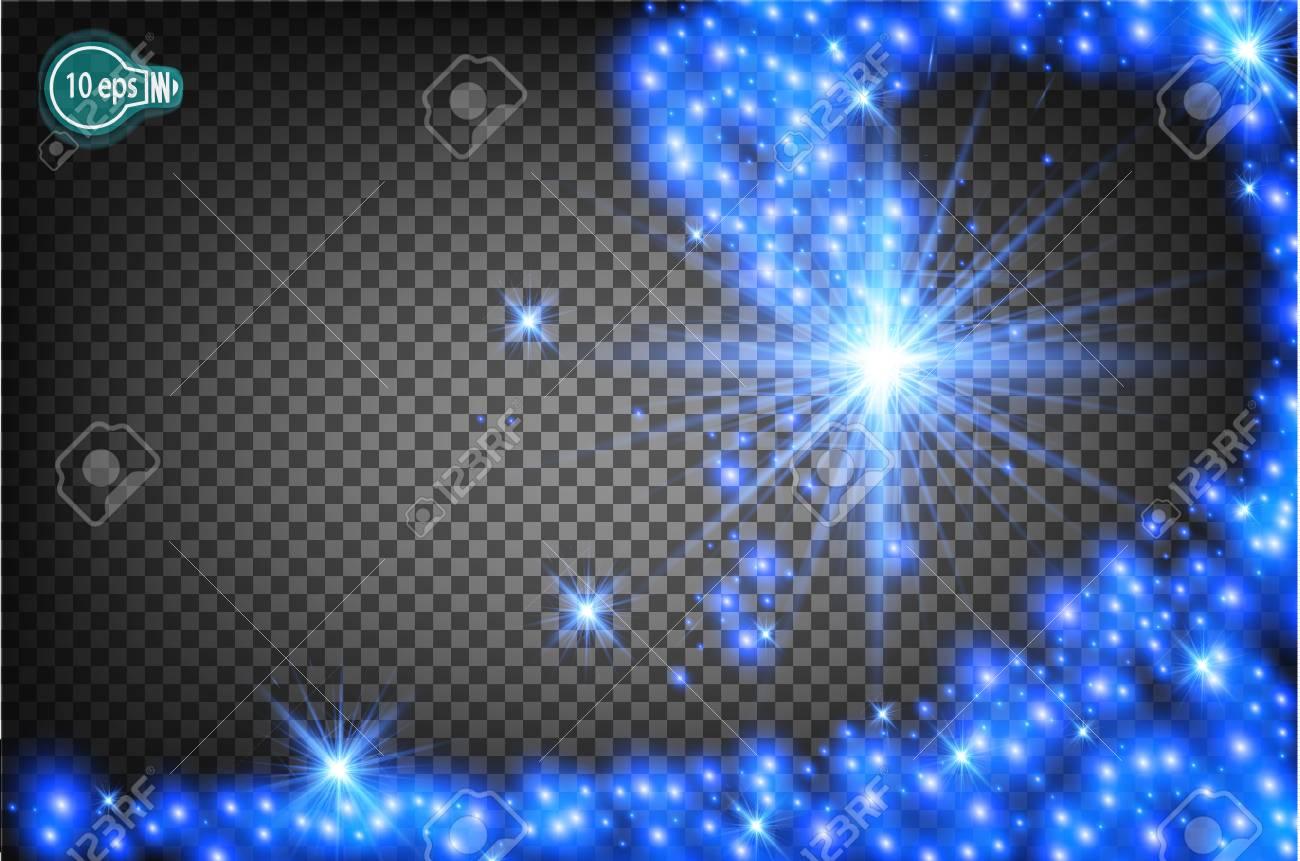 Stella Di Natale Luce.Magicamente Volare Una Stella Di Natale E Un Effetto Di Luce Realistico Flusso Di Luce Isolato Di Stelle Modello Trasparente Della Macchina