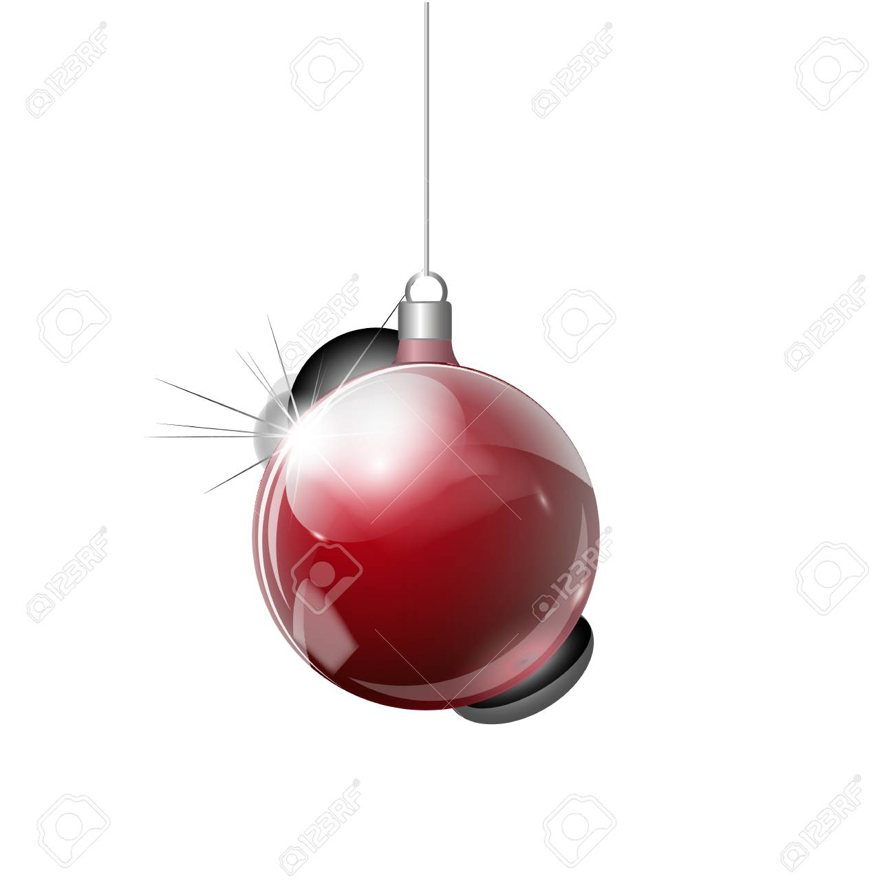 Christmas Transparent Ball Of Glass Elements Of Christmas Decorations