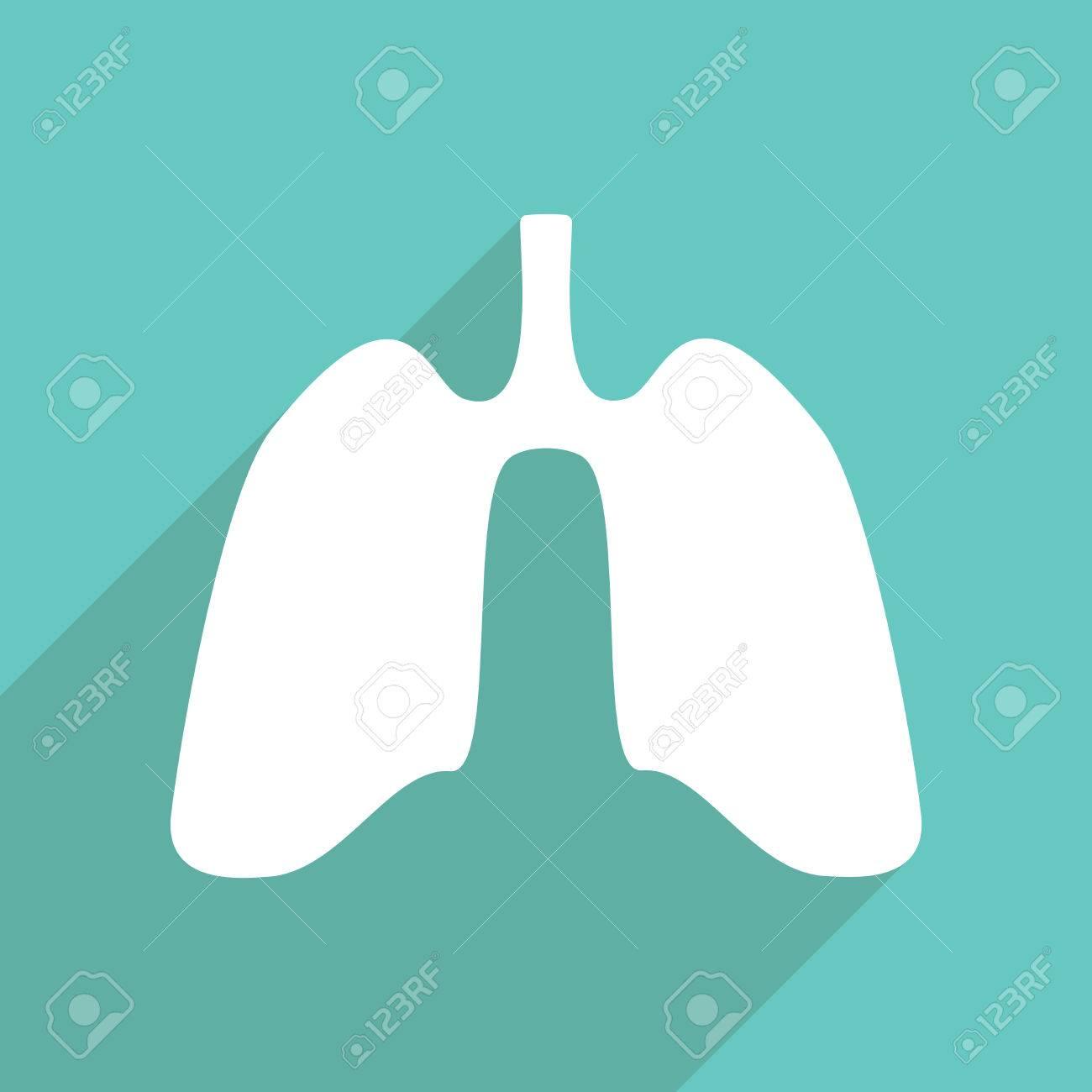 Flache Vektor Symbol Mit Schatten Und Modernes Design Lunge Körper