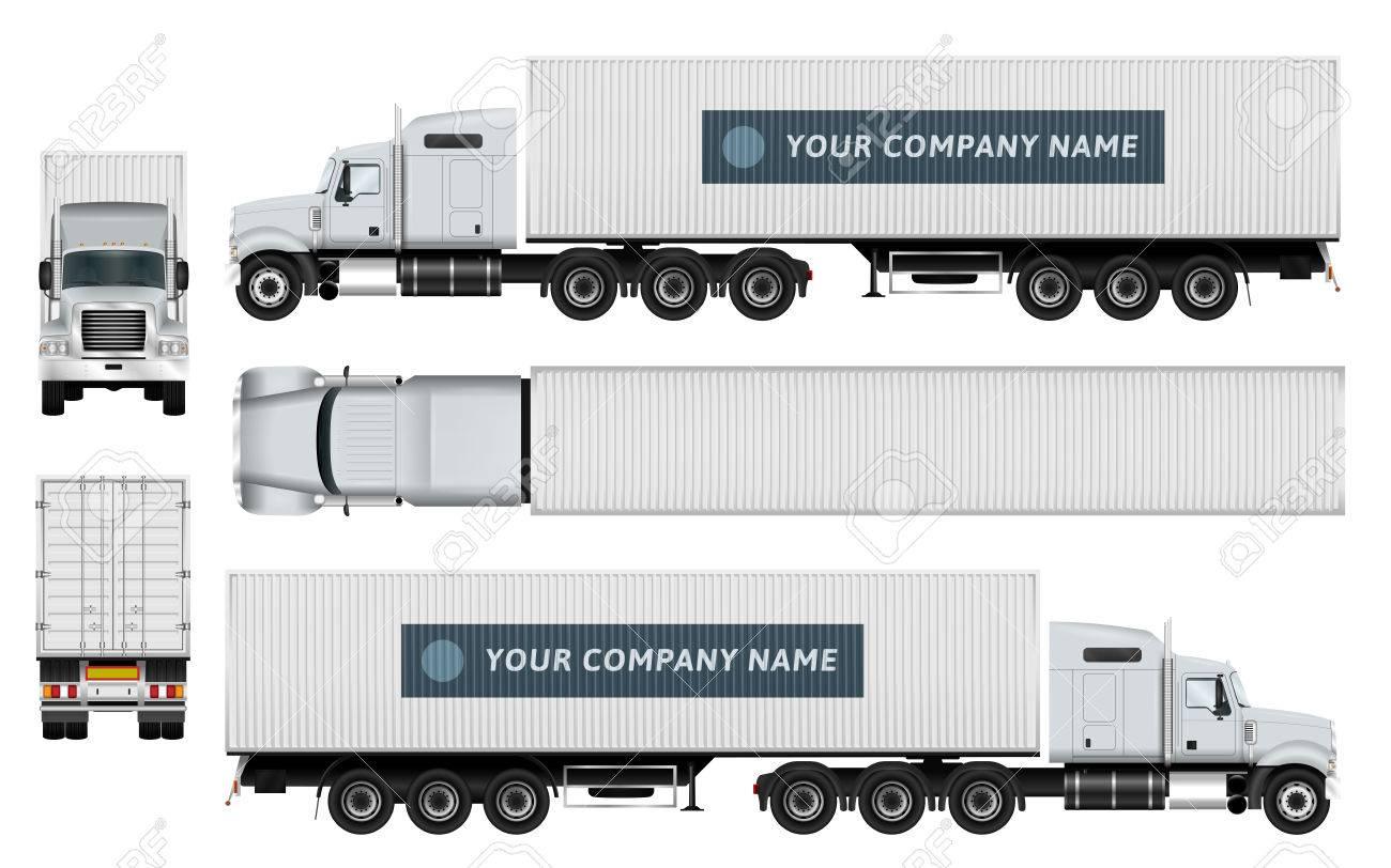 Cargo Plantilla Carro Del Envase En El Fondo Blanco. La Capacidad De ...