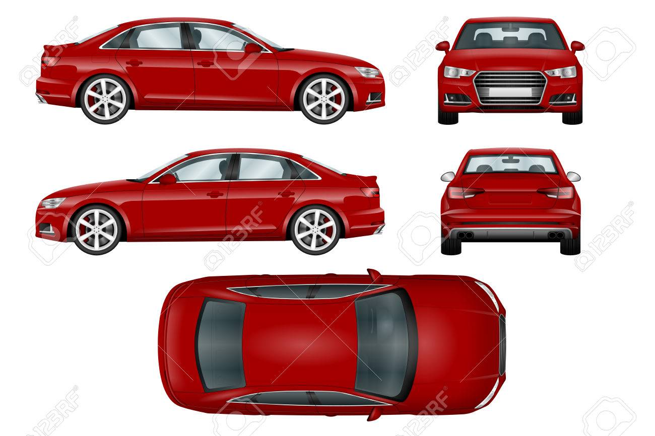 Red Sport Car Vector Template The Ability To Easily Change The