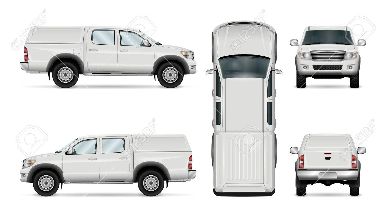 Pickup Truck Vector Template For Car Branding And Advertising Royalty Free Cliparts Vectors And Stock Illustration Image 77471650