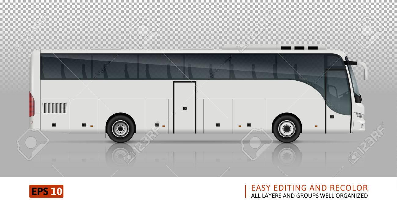 Bus-Vektor-Vorlage Für Auto Branding Und Werbung. Isoliert Bus Bus ...