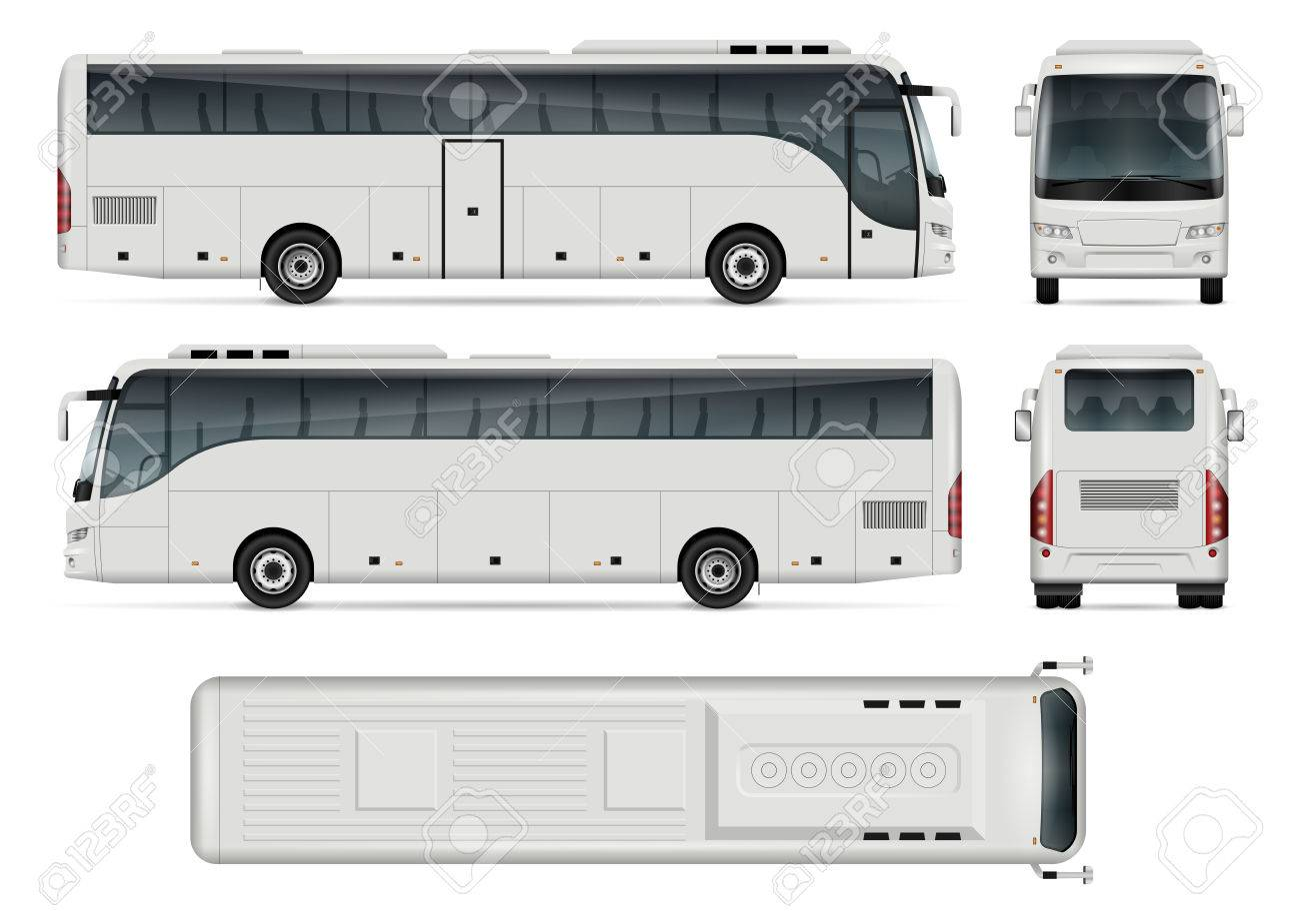 Bus Vector Template For Car Branding And Advertising Isolated