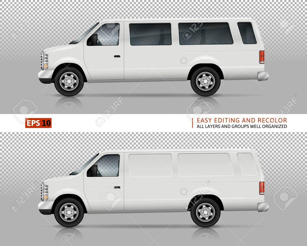 SUV Autos Vektor-Mock-up Für Auto Branding Und Werbung. Weiße ...