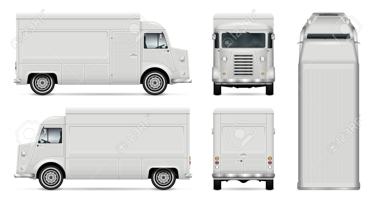 Food truck vector mock up for car branding advertising corporate food truck vector mock up for car branding advertising corporate identity mobile kitchen pronofoot35fo Images