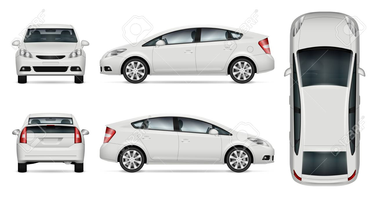 White Car Vector Mock Up For Advertising Corporate Identity Rh 123rf Com Car  Vector Templates Free Download Smart Car Vector Template