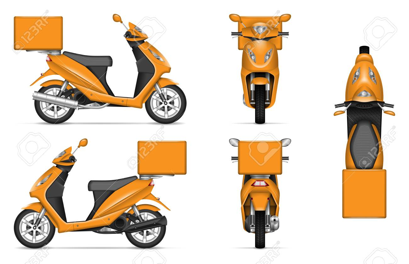 delivery scooter vector mockup on white for vehicle branding royalty free cliparts vectors and stock illustration image 112215992 delivery scooter vector mockup on white for vehicle branding royalty free cliparts vectors and stock illustration image 112215992