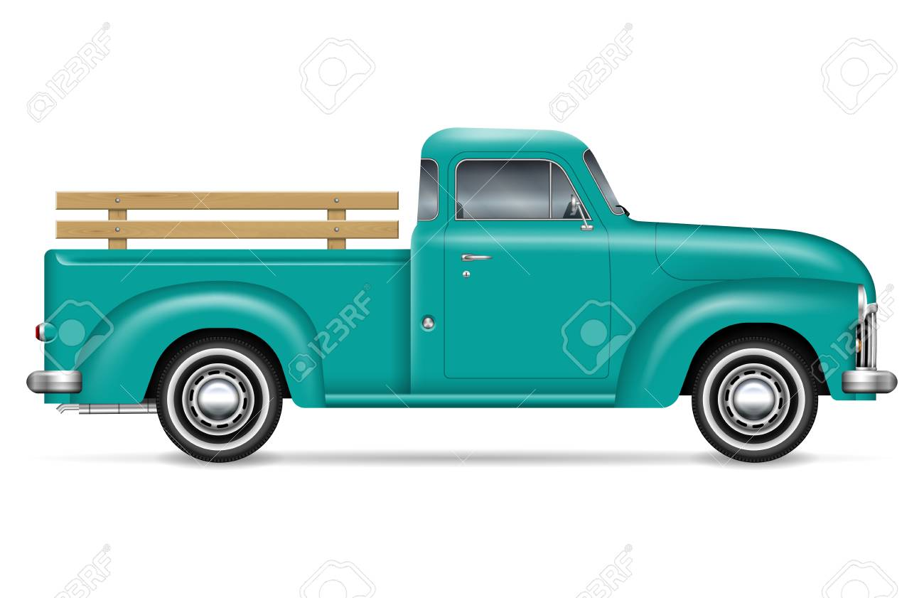 Retro Pickup Vector Illustration On White Background Isolated Royalty Free Cliparts Vectors And Stock Illustration Image 112216005