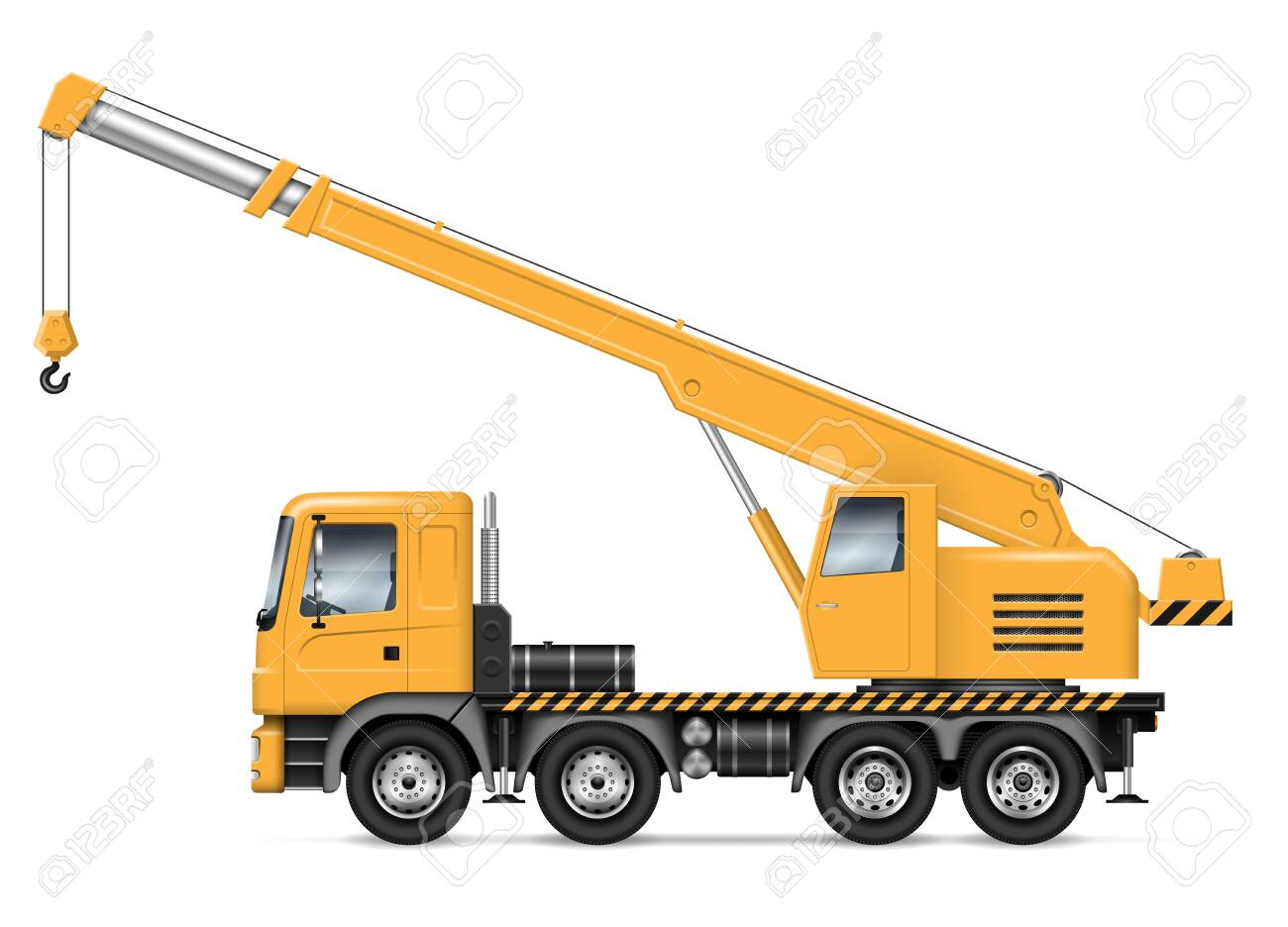 crane truck with view from side isolated on white background... royalty  free cliparts, vectors, and stock illustration. image 128422174.  123rf