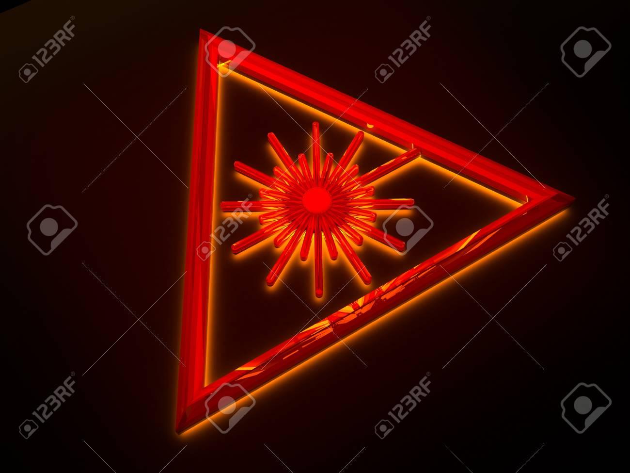 Sign - laser danger with light Stock Photo - 7508287