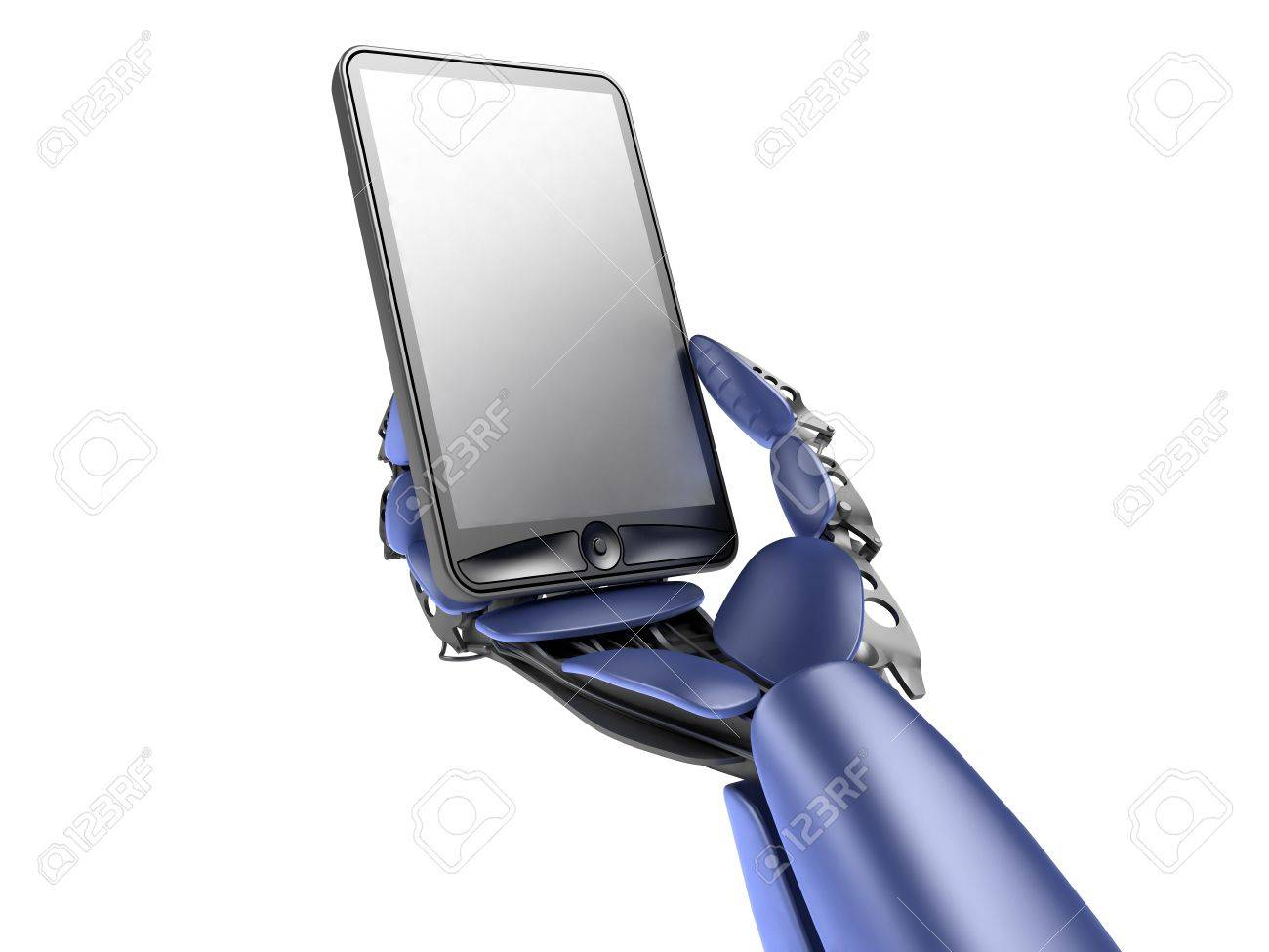 cyborg with phone Stock Photo - 10778593