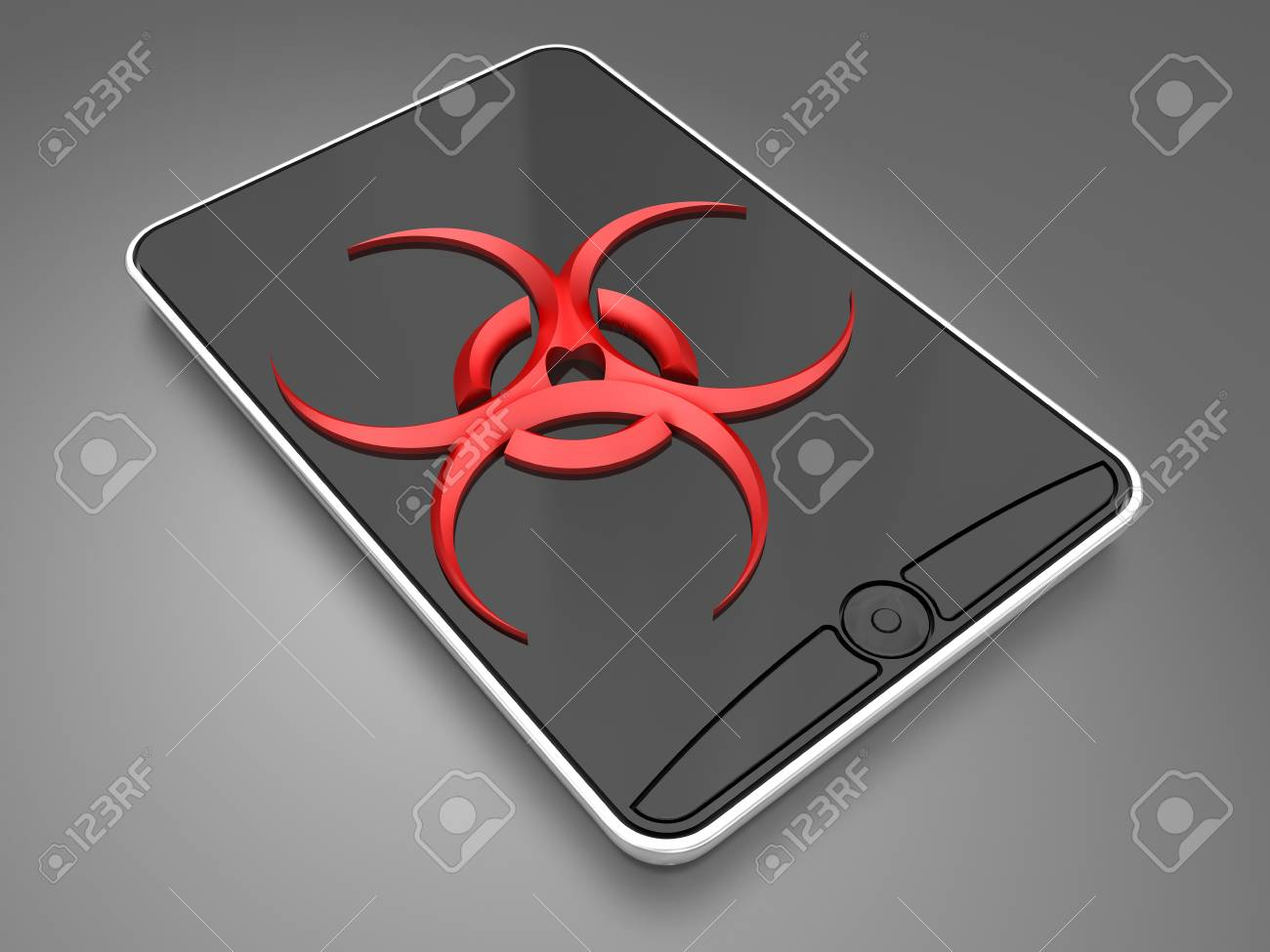 virus in the smartphone Stock Photo - 14996153